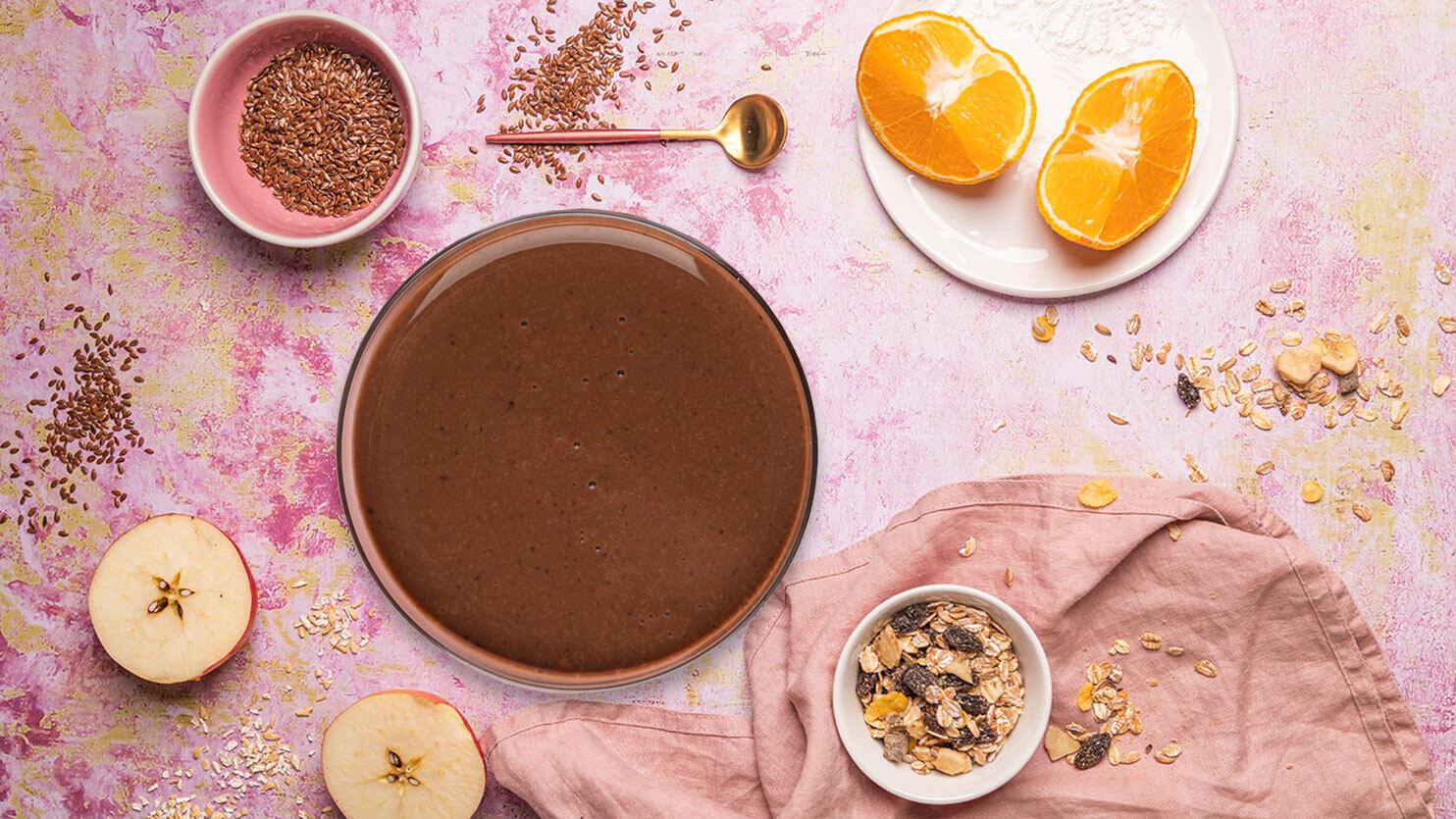 Smoothie kakaowo – śliwkowe