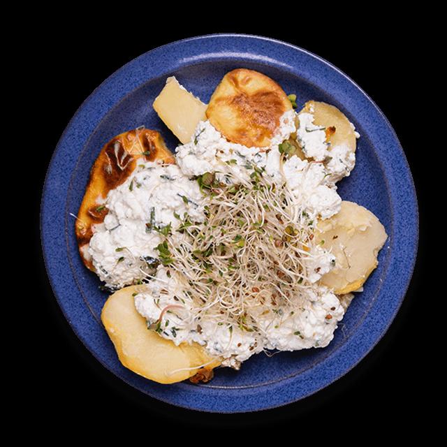 pieczone ziemniaki z twarożkiem i szczypiorkiem