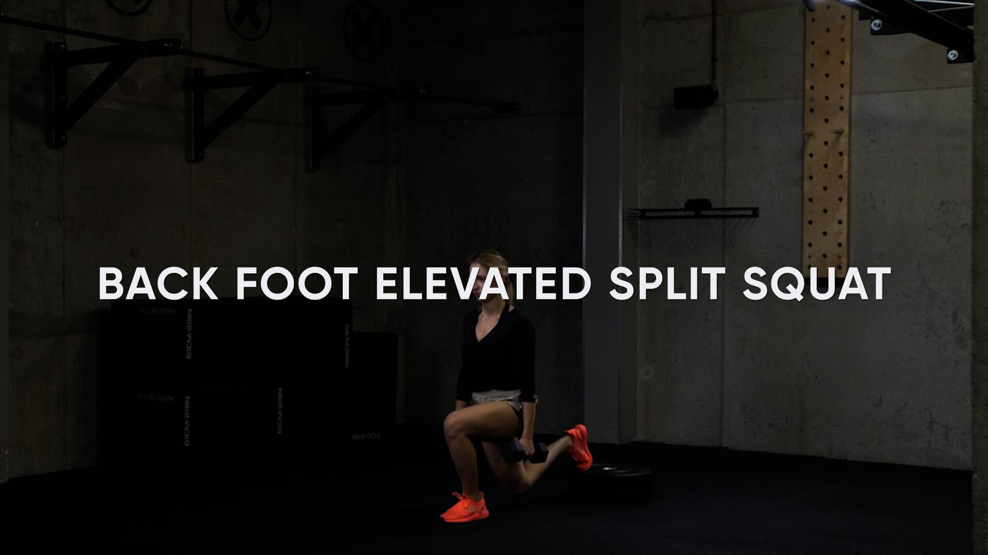 Back Foot Elevated Split Squat