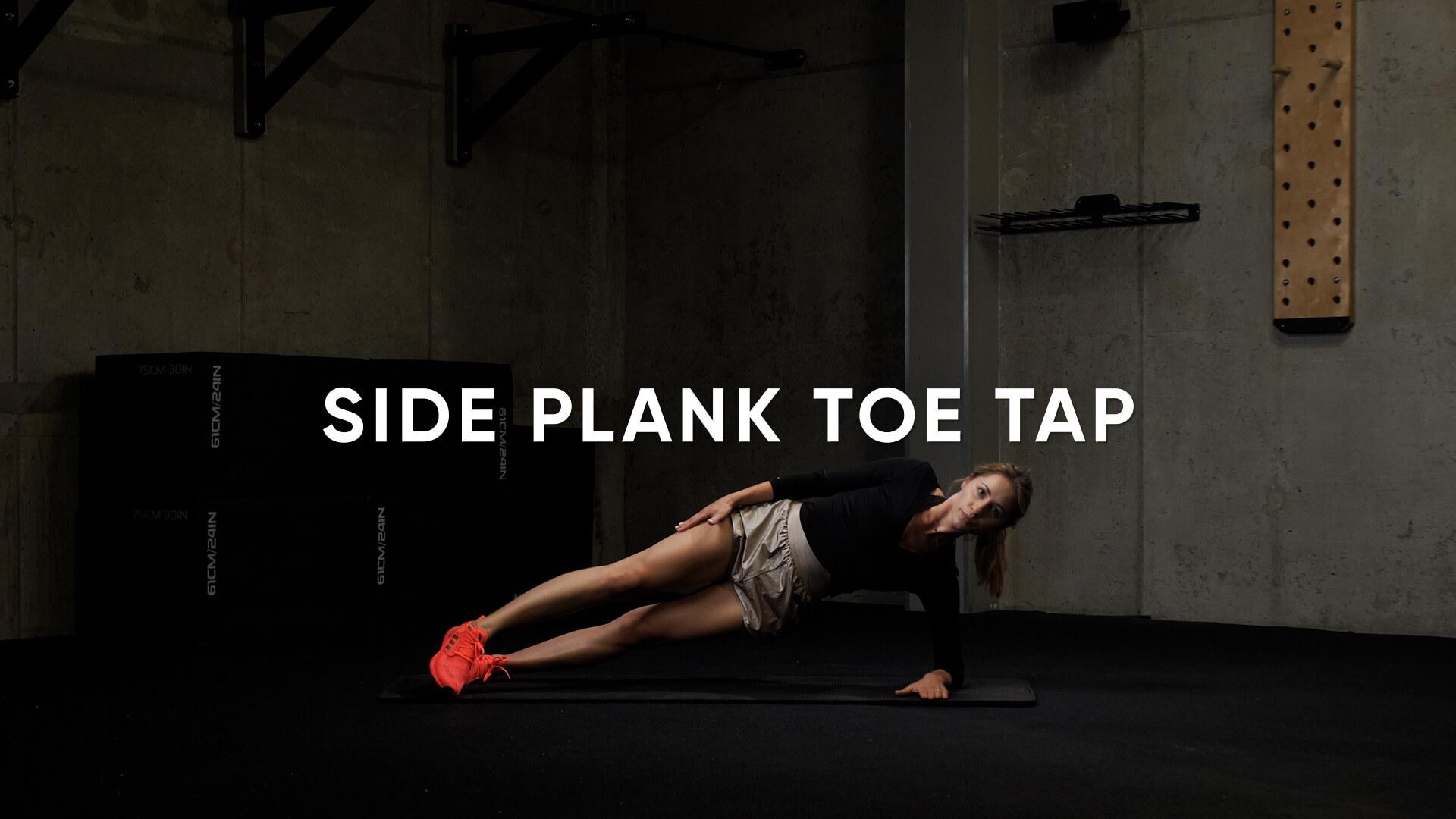 Side Plank Toe Tap