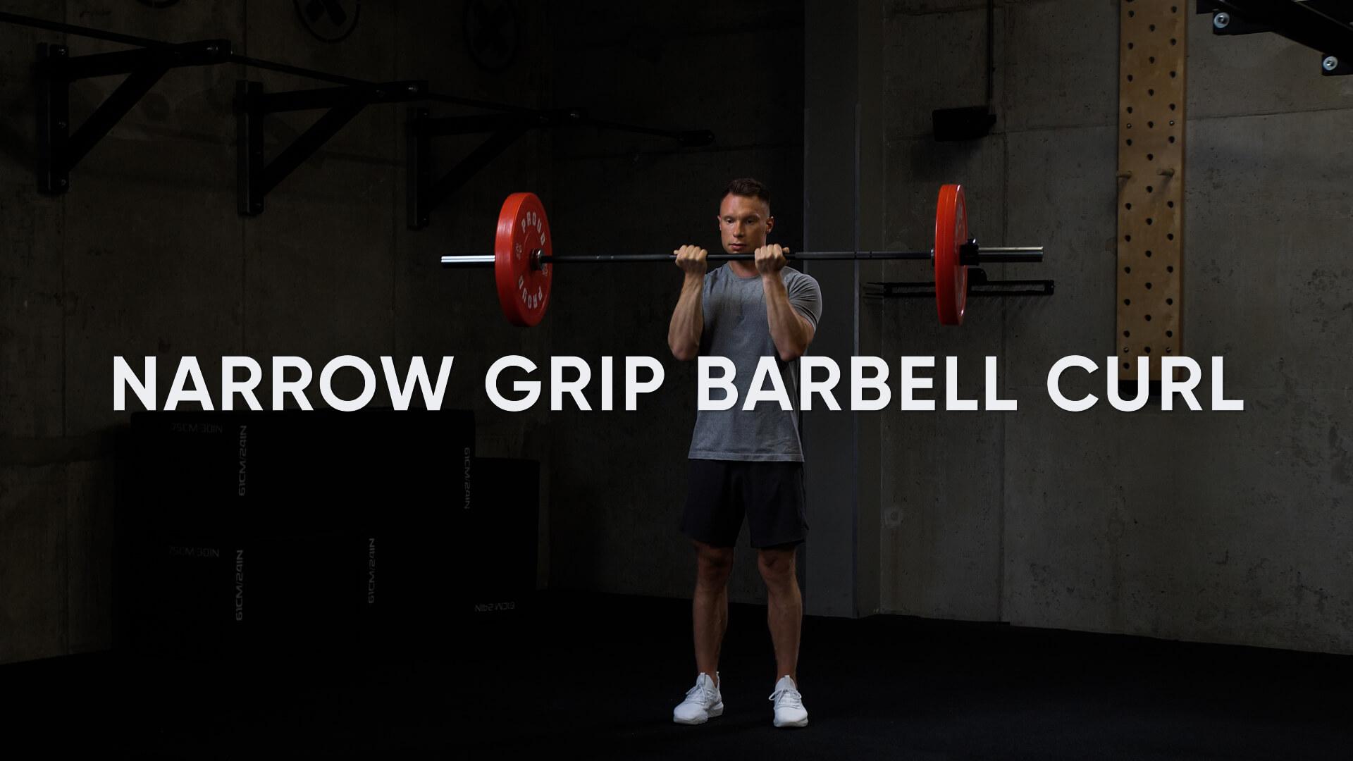 Narrow Grip Barbell Curl