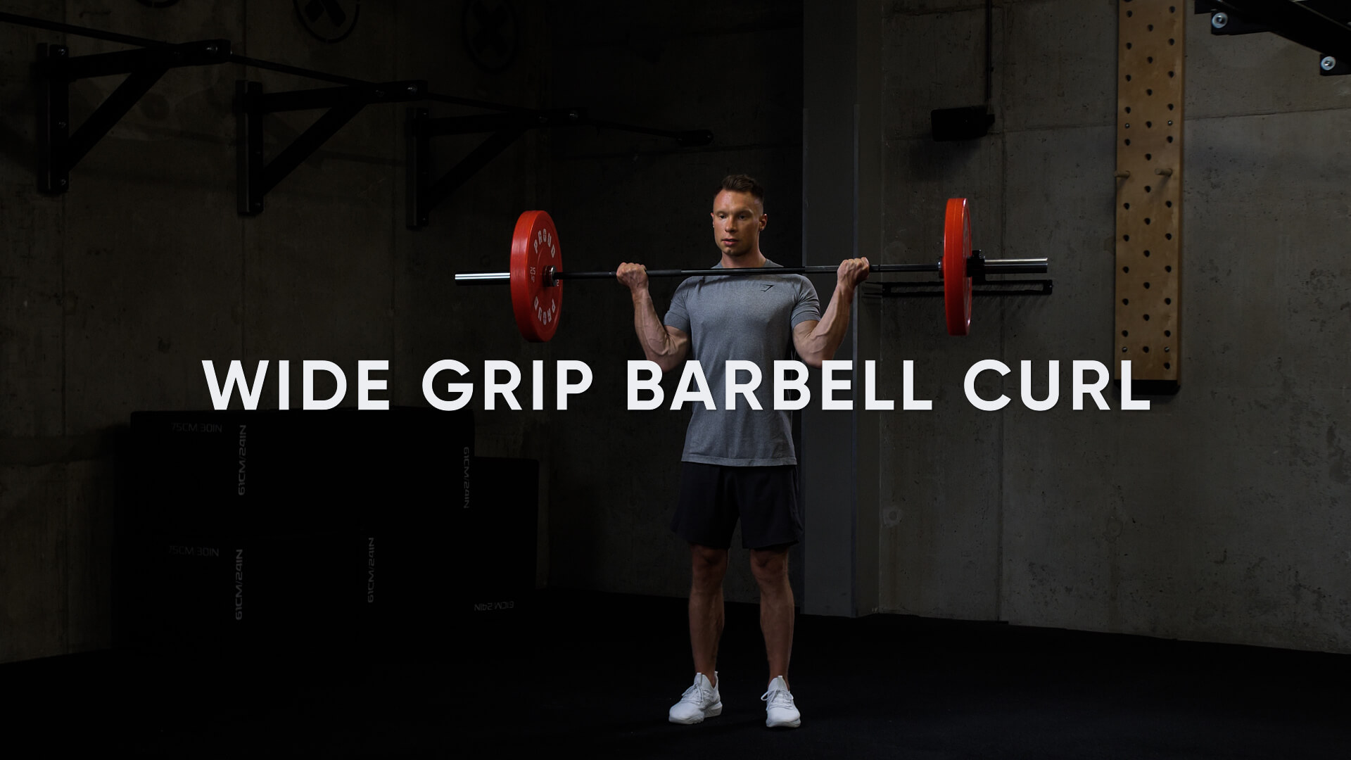 Wide Grip Barbell Curl