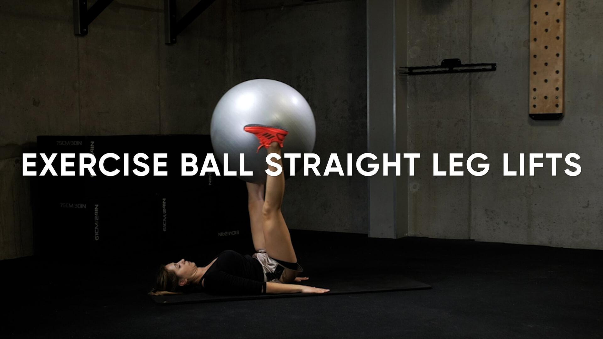 Exercise Ball Straight Leg Lifts