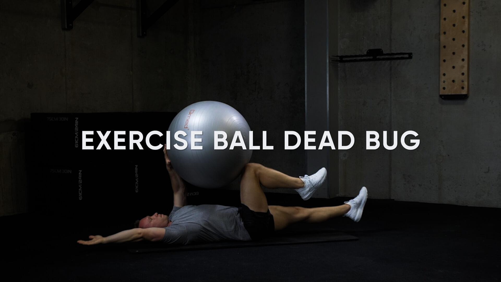 Exercise Ball Dead Bug