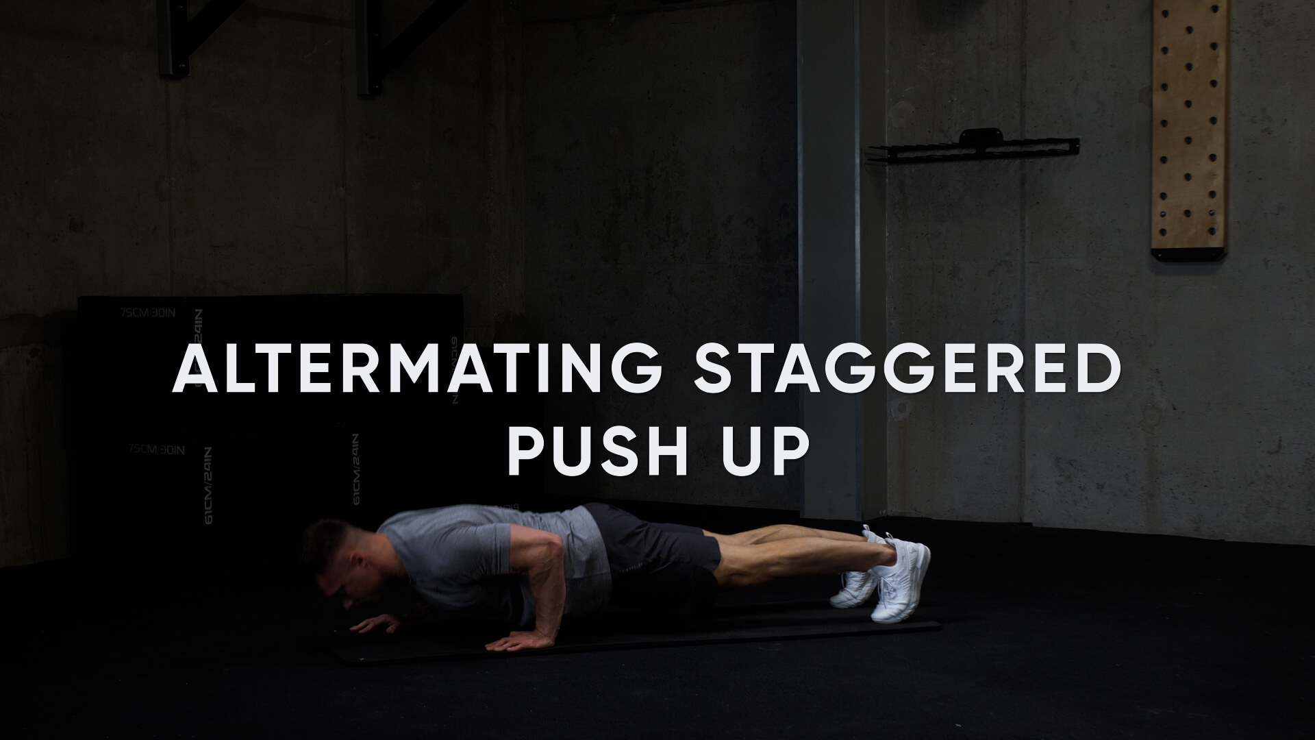 Alternating Staggered Push-Up
