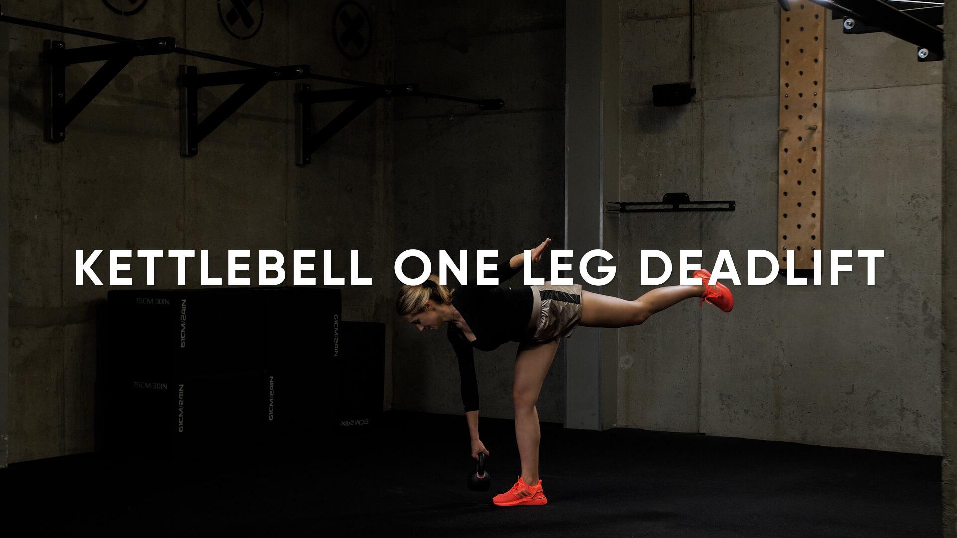 Kettlebell One Leg Deadlift