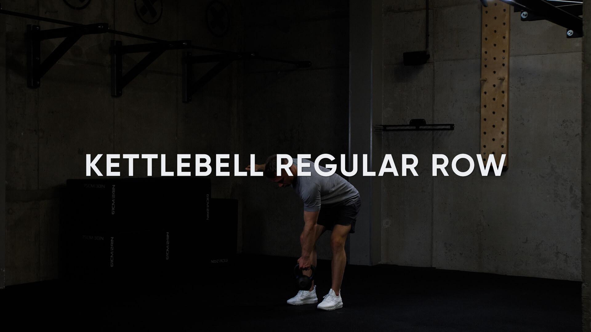 Kettlebell Regular Row
