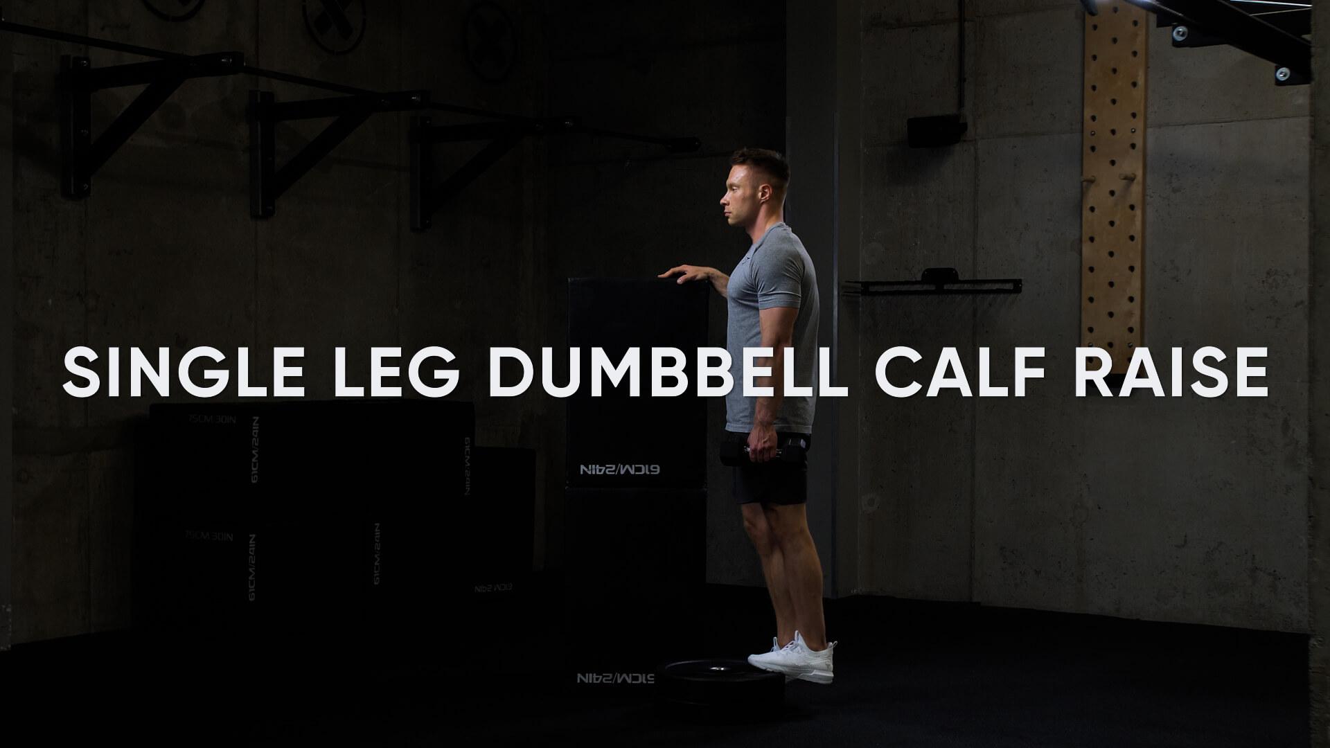 Single Leg Dumbbell Calf Raise