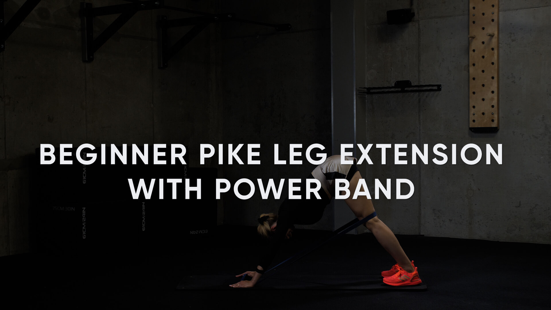 Beginner Pike Leg Extension with Power Band