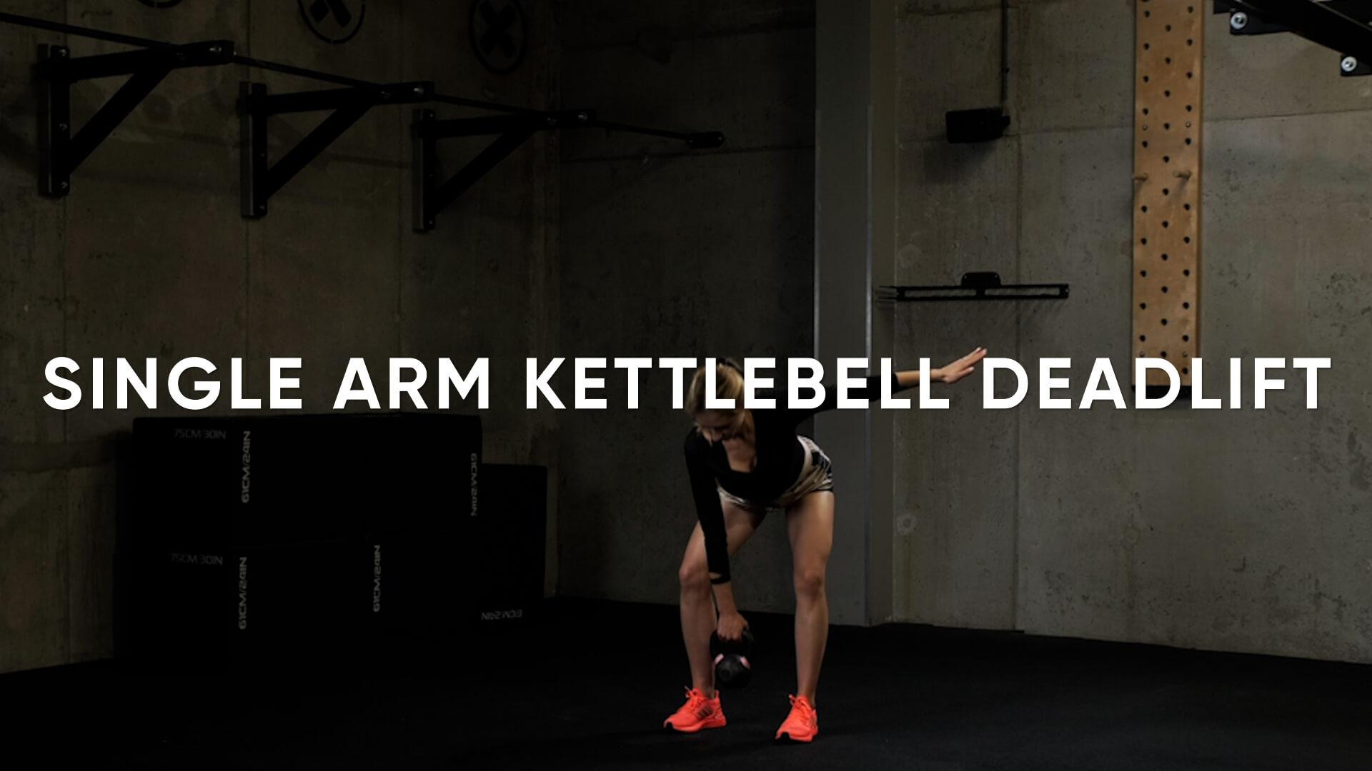 Single Arm Kettlebell Deadlift