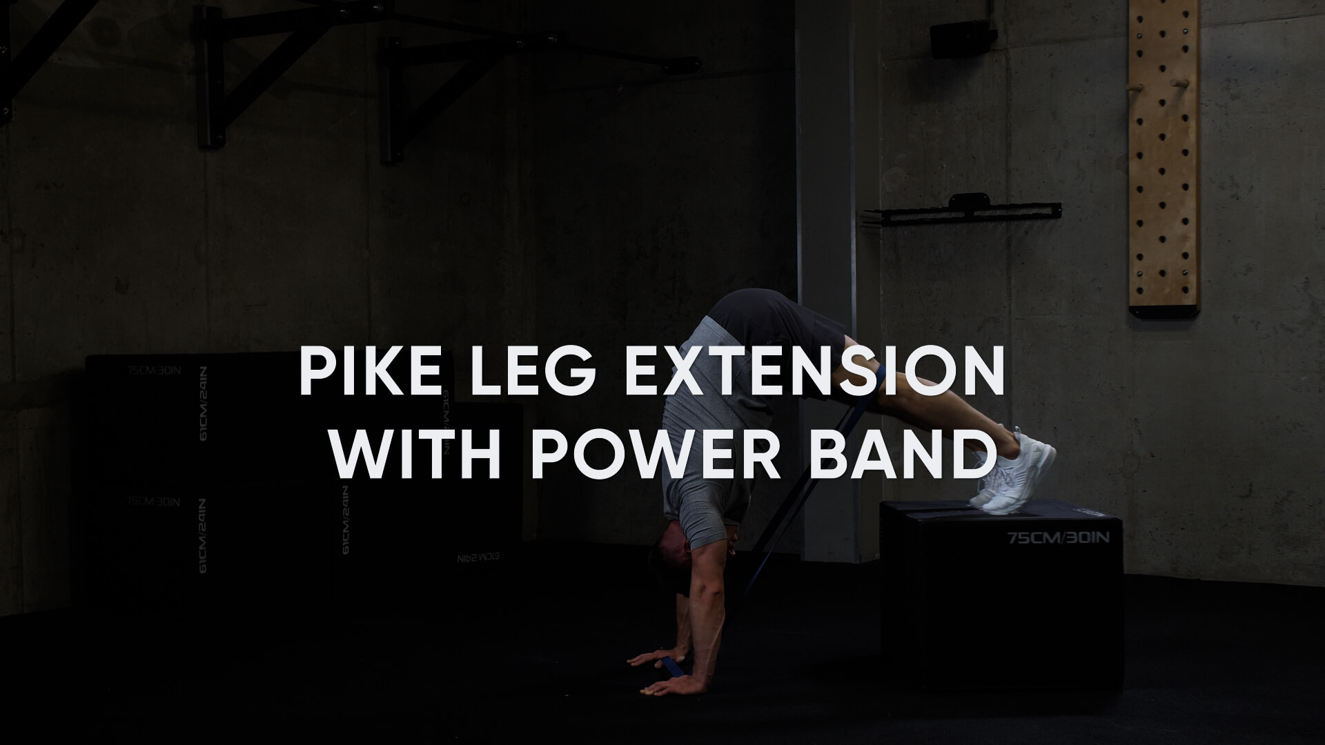 Pike Leg Extension with Power Band