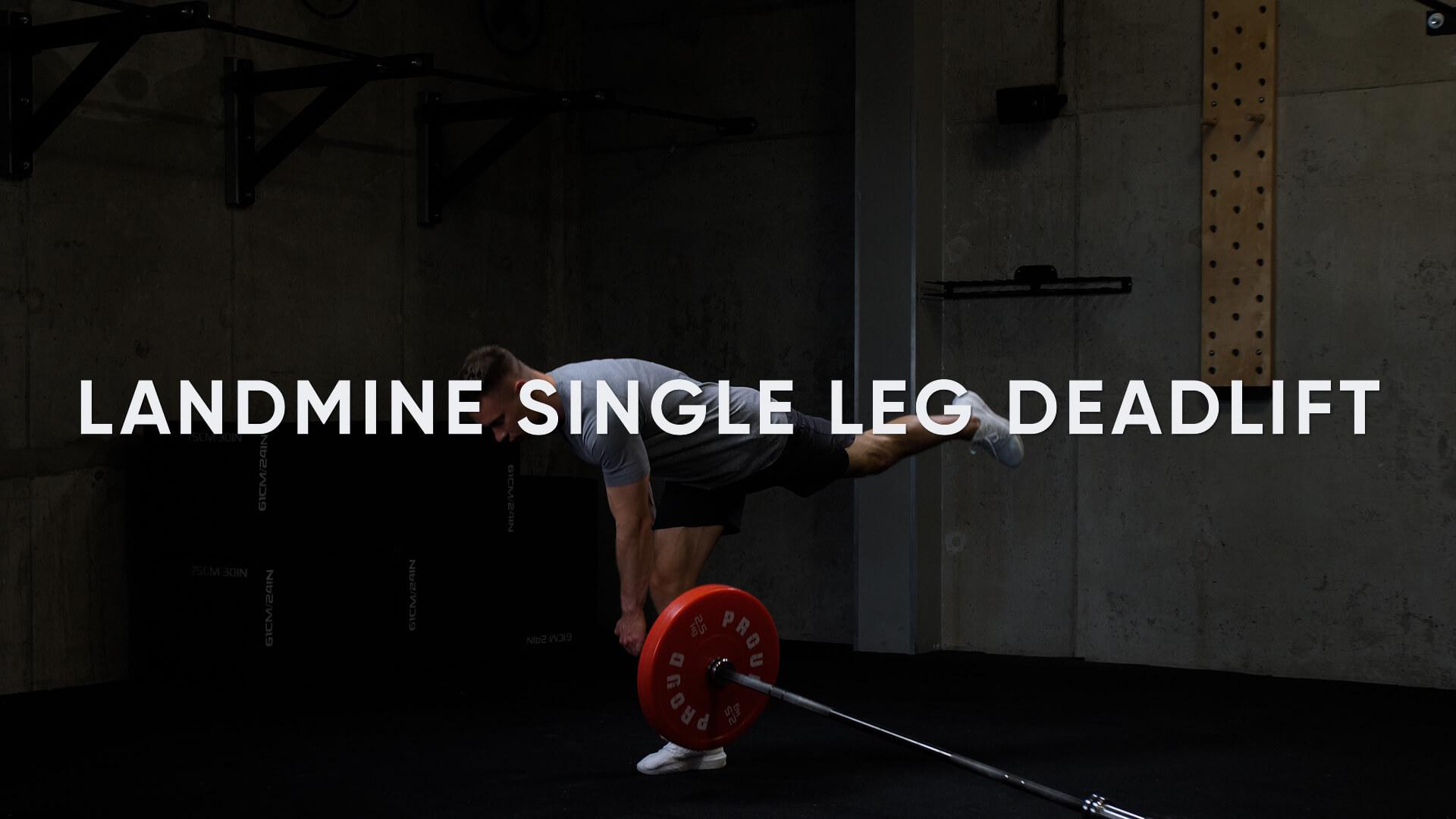 Landmine Single Leg Deadlift
