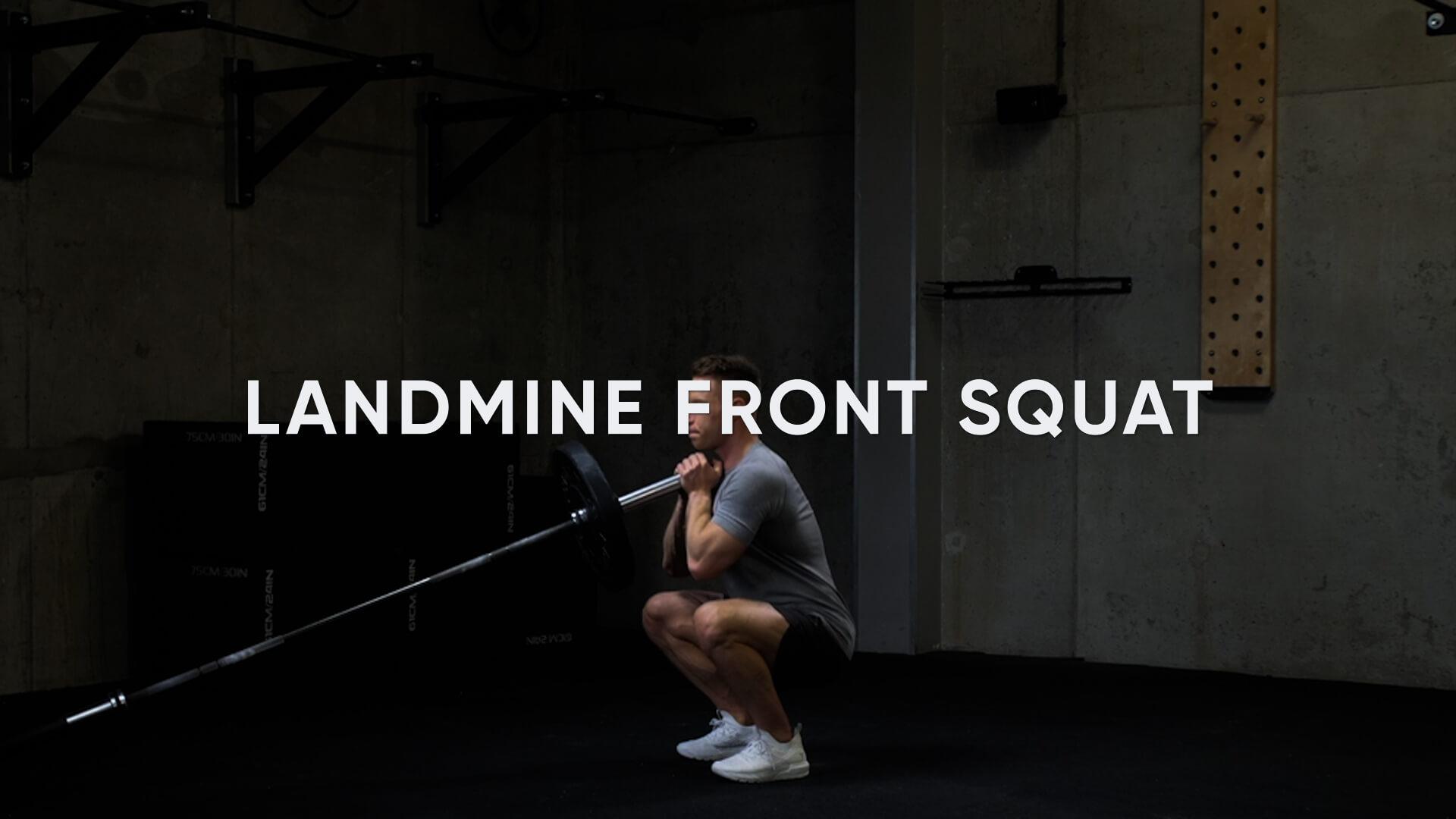 Landmine Front Squat