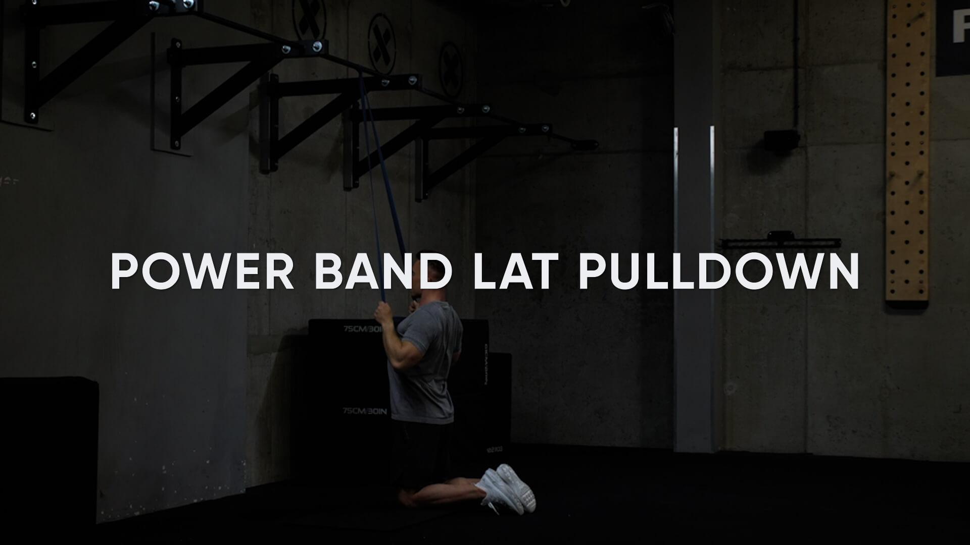 Power Band Lat Pulldown