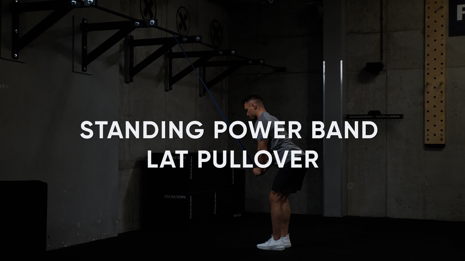 Standing Power Band Lat Pullover